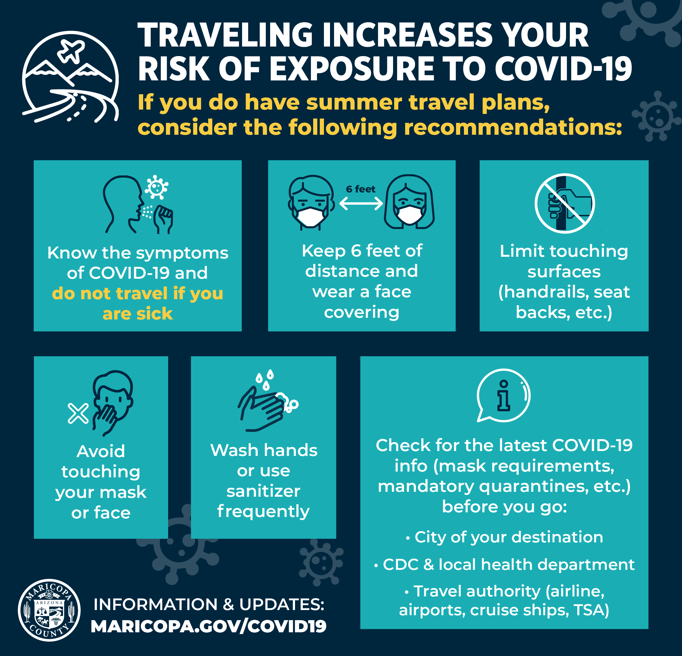 Traveling increases your risk of exposure to COVID-19